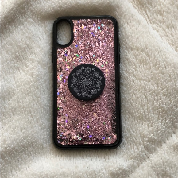 brand new 088bb 61b0e iPhone X case and pop socket